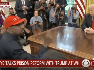 Kanye West and Trump in the White House