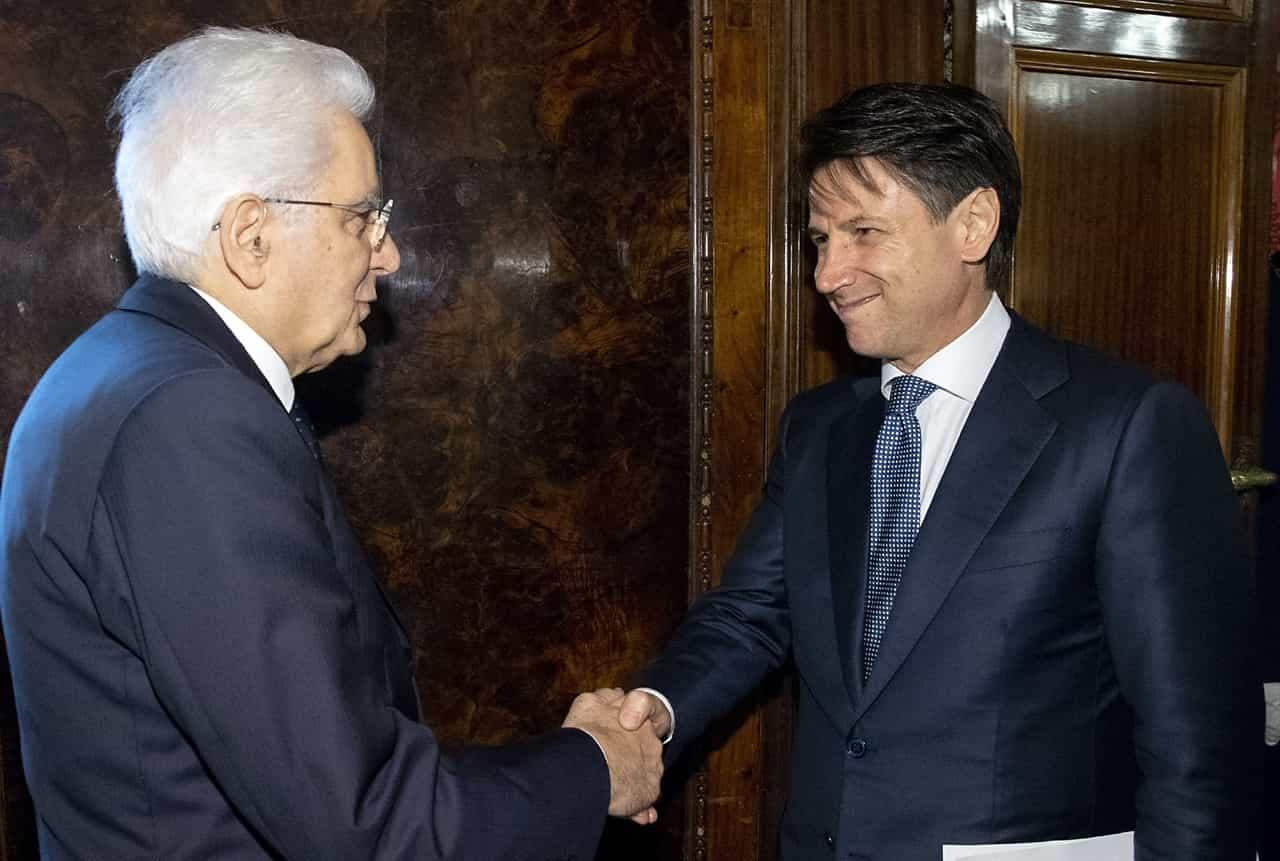 Sergio Mattarella and Giuseppe Conte