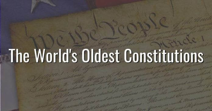 The world's oldest constitutions