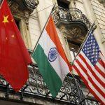 China, India, US Flags